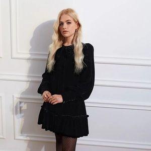 NWT H&M x Vampire's Wife Velvet Bow Dress S